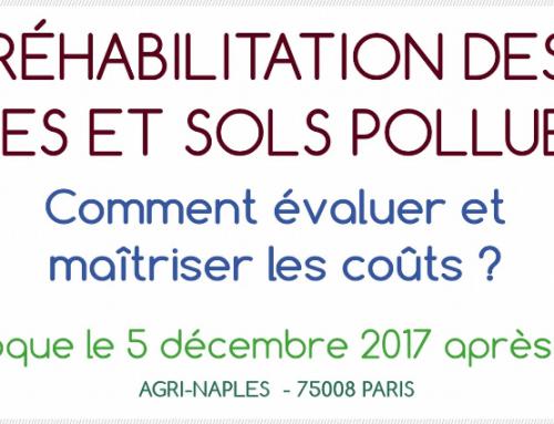 Les atouts de la géostatistique pour les sites et sols pollués – Exposés le 24 Novembre 2017 à la 10ème journée technique Chloronet à Soleure et le 5 décembre 2017 au colloque AFITE à Paris