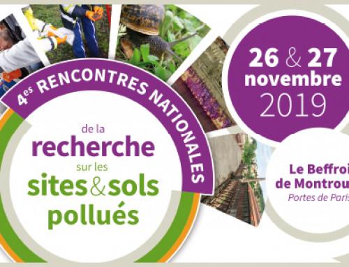 4ème rencontres nationales de la recherche sur les sites et sols pollués – 26-27 novembre 2019 à Beffroi de Montrouge, portes de Paris